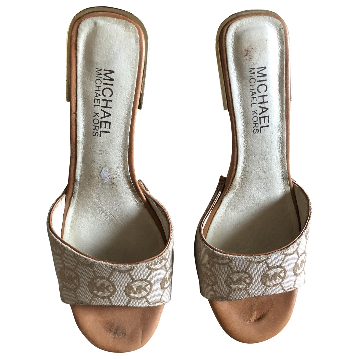 Michael Kors \N Beige Cloth Sandals for Women 36 EU