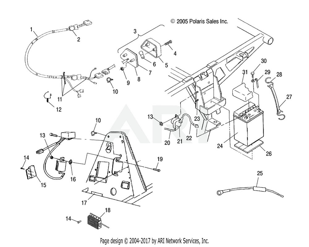 Polaris OEM 2410504 Harness, Main | [Incl. 25]