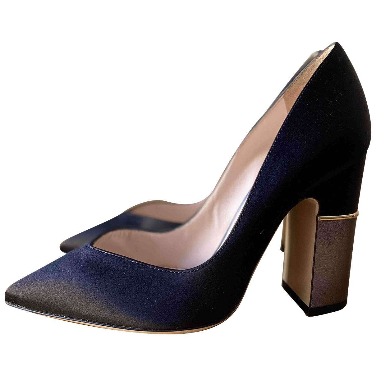 Pollini - Escarpins   pour femme en toile - noir