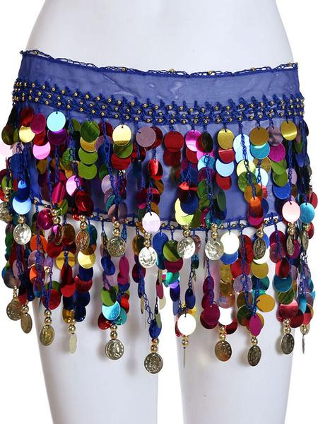 Milanoo Belly Dance Waist Chain Fringe Sequins Belly Dance Wear For Women