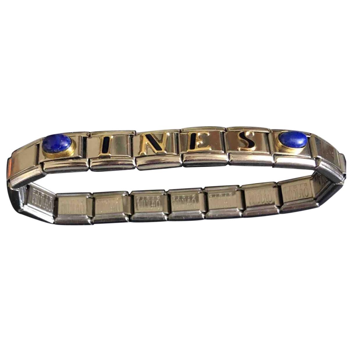 - Bracelet Motifs Lettres pour femme en metal - argente