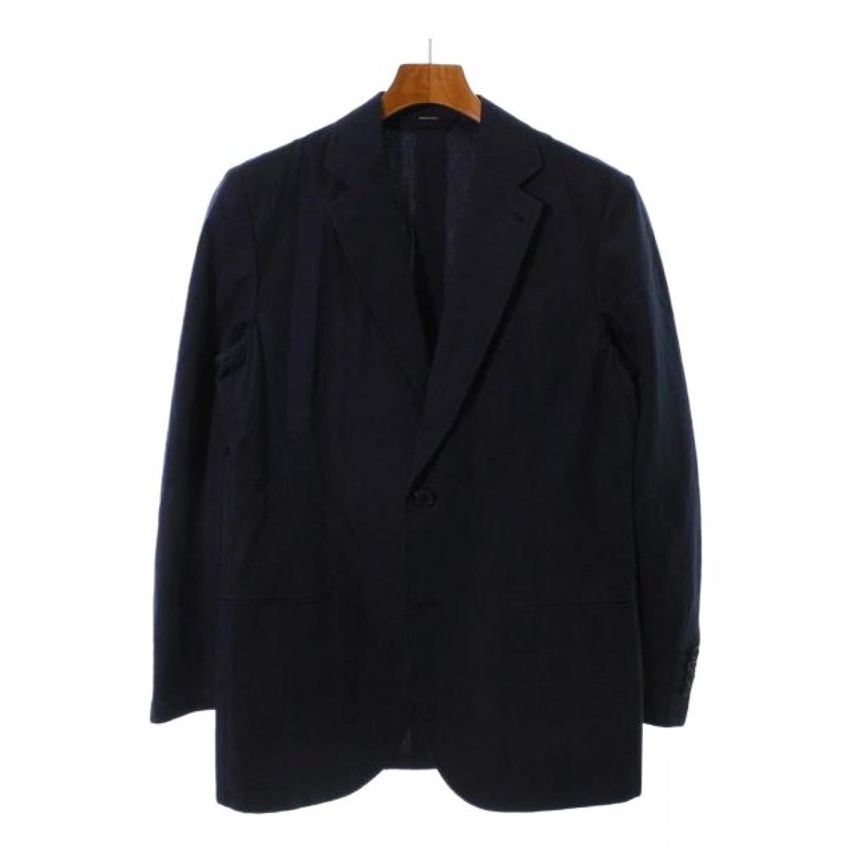 Hermès \N Blue Linen jacket  for Men 46 FR