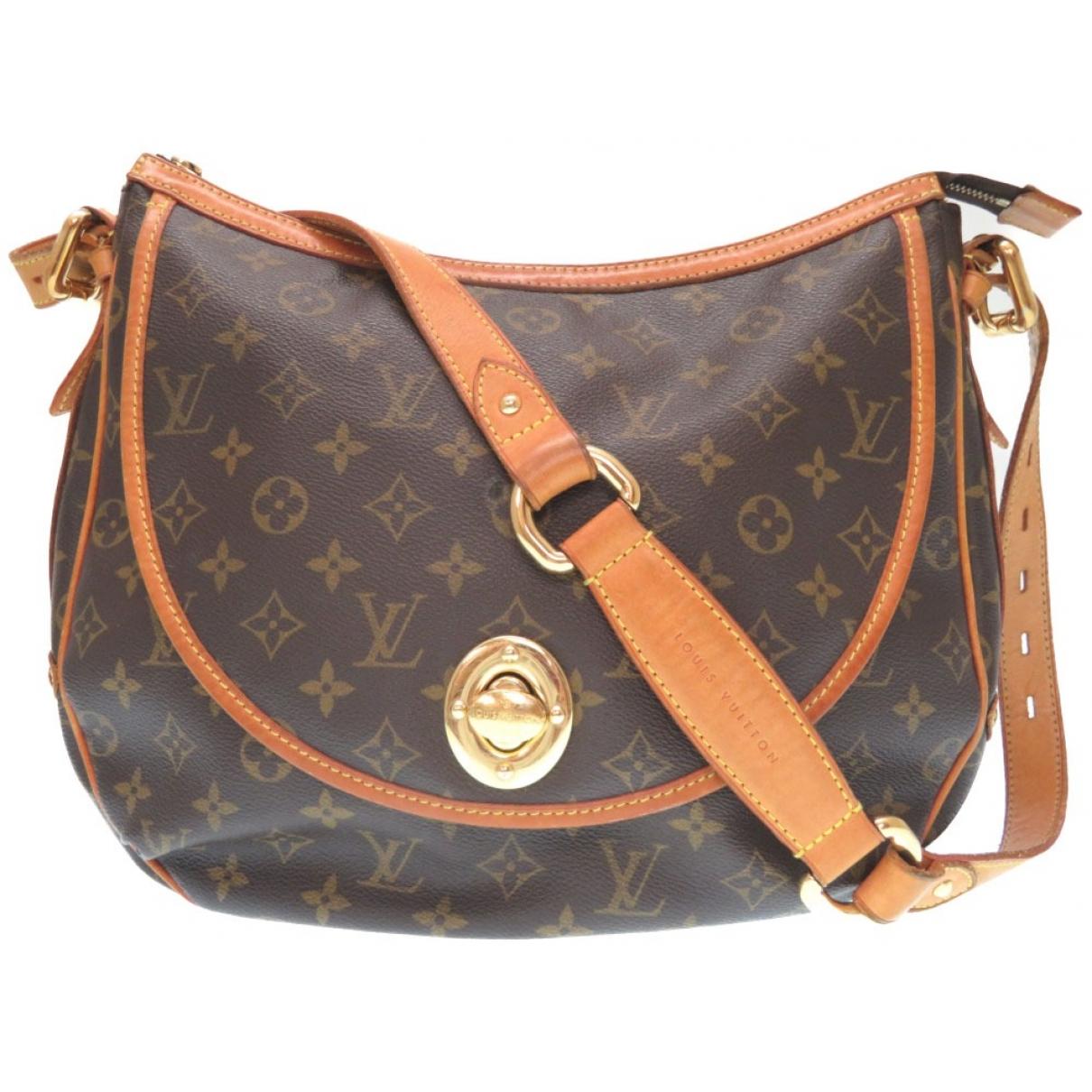Louis Vuitton - Sac a main Tulum pour femme en toile - marron