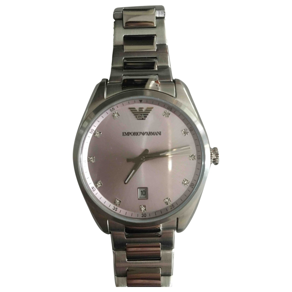 Emporio Armani \N Silver Steel watch for Women \N