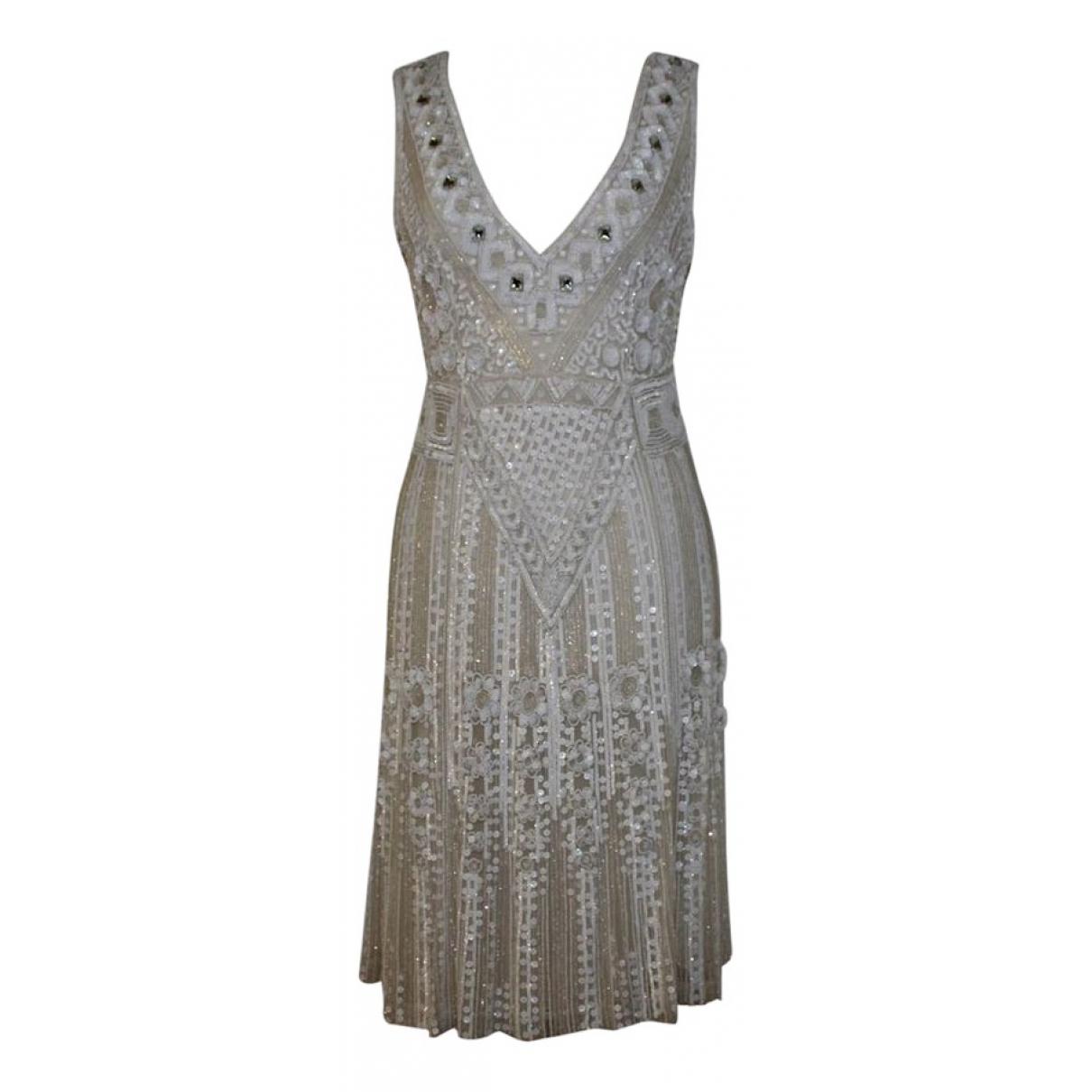 Blumarine \N Kleid in  Weiss Synthetik