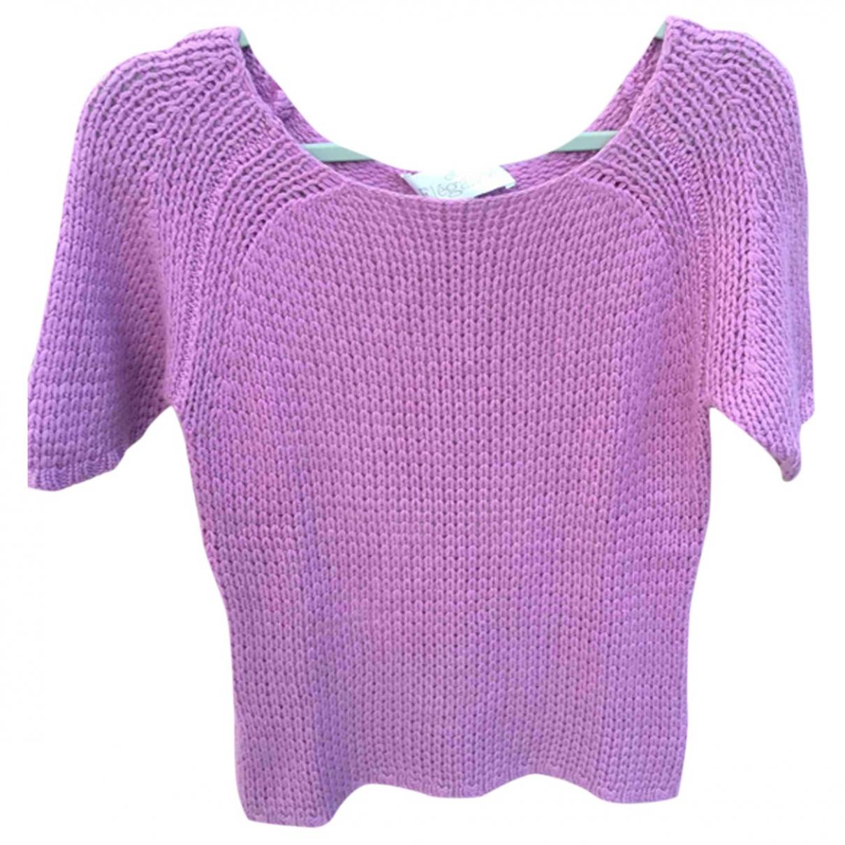 Elegance Paris - Pull   pour femme en cachemire - violet