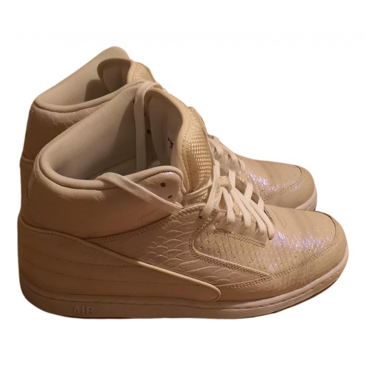 Nike - Baskets   pour homme en python - beige