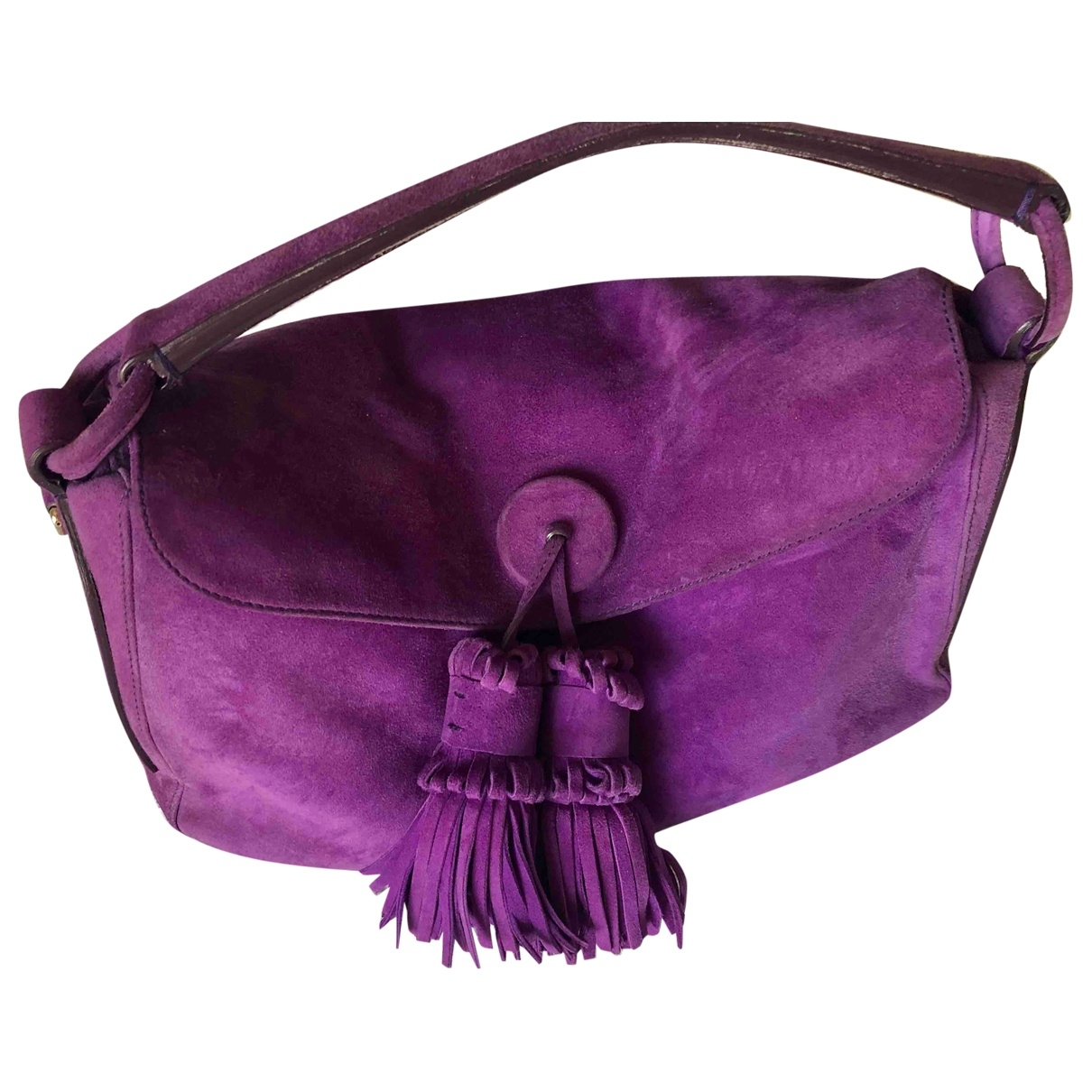 Yves Saint Laurent \N Handtasche in  Lila Veloursleder
