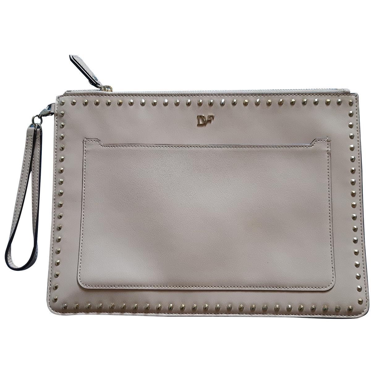 Diane Von Furstenberg - Pochette   pour femme en cuir - beige