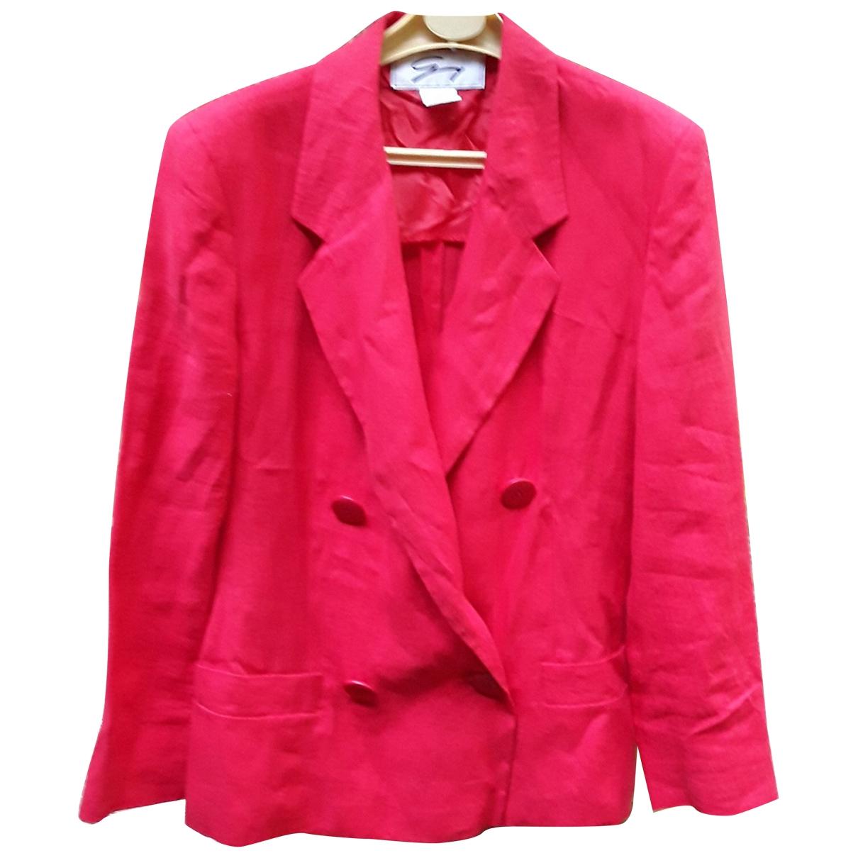 Genny \N Red Linen jacket for Women 42 FR