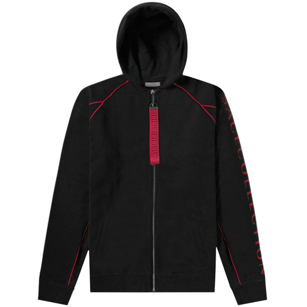Versace Collection Contrast Trim Hoodie Colour: BLACK, Size: LARGE