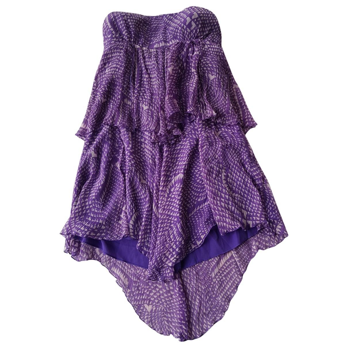 Bcbg Max Azria - Robe   pour femme en soie - violet