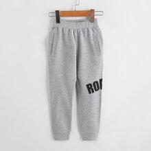 Pantalones para niño pequeño Letras Deportivo