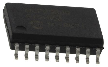 Microchip MCP23008-E/SO, 8-Channel I/O Expander 5MHz, I2C, Serial MHz, 18-Pin SOIC (5)