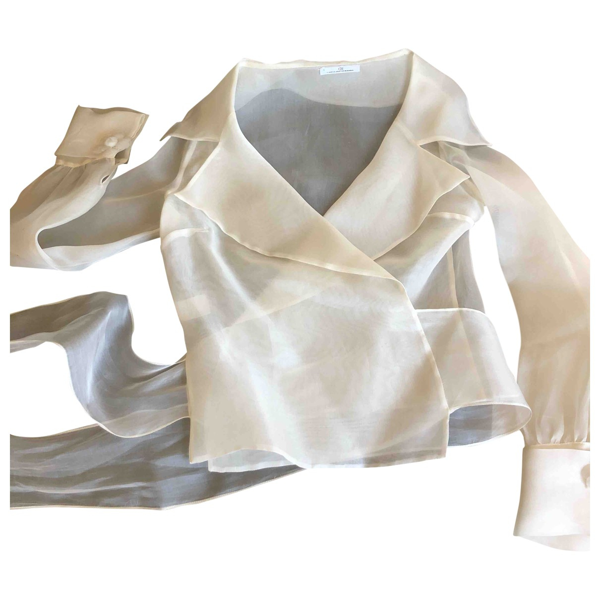 Carolina Herrera \N Beige Silk  top for Women S International