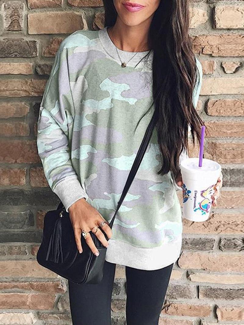 Ericdress Pullover Print Mid-Length Long Sleeve Hoodie