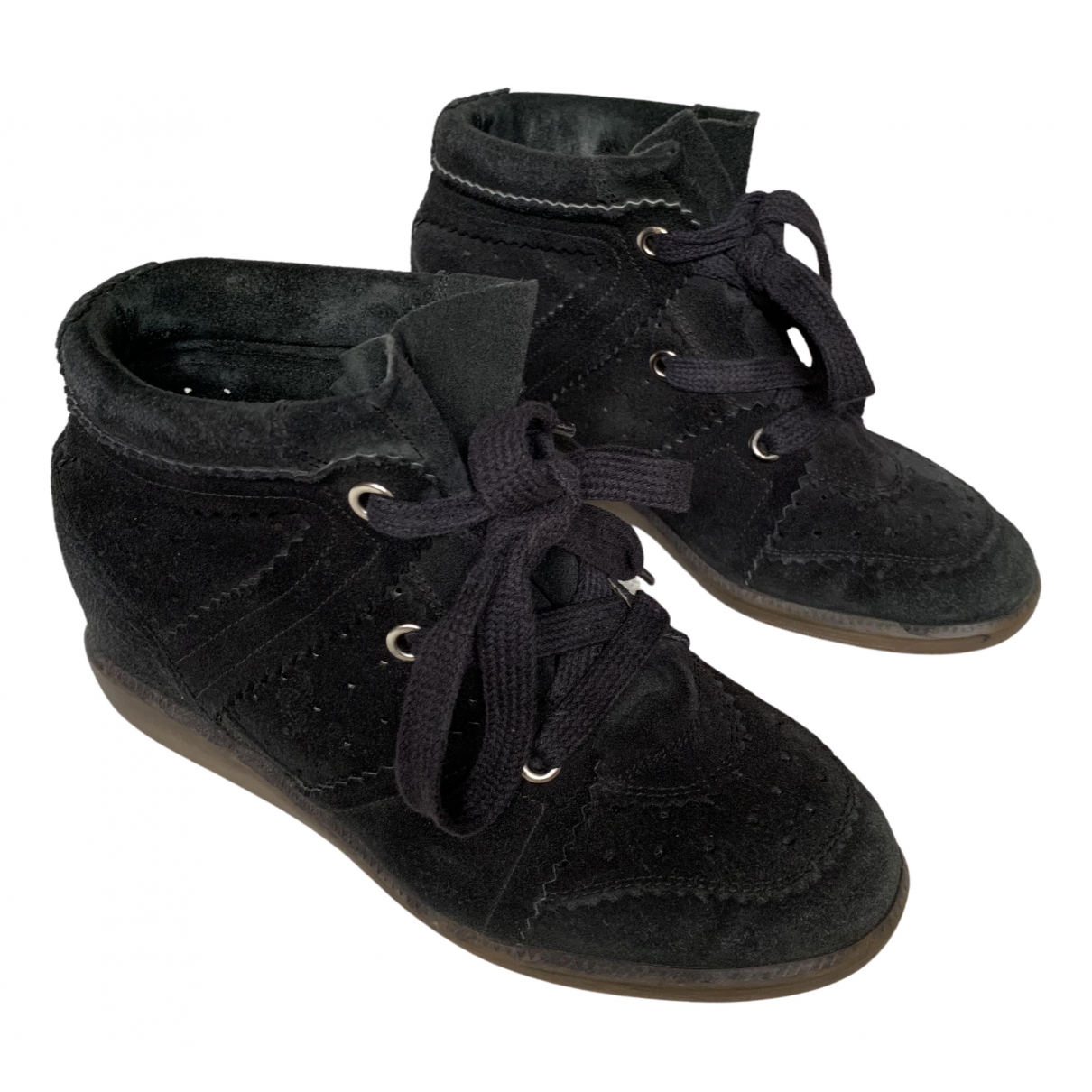 Isabel Marant Bobby Black Suede Trainers for Women 38 EU