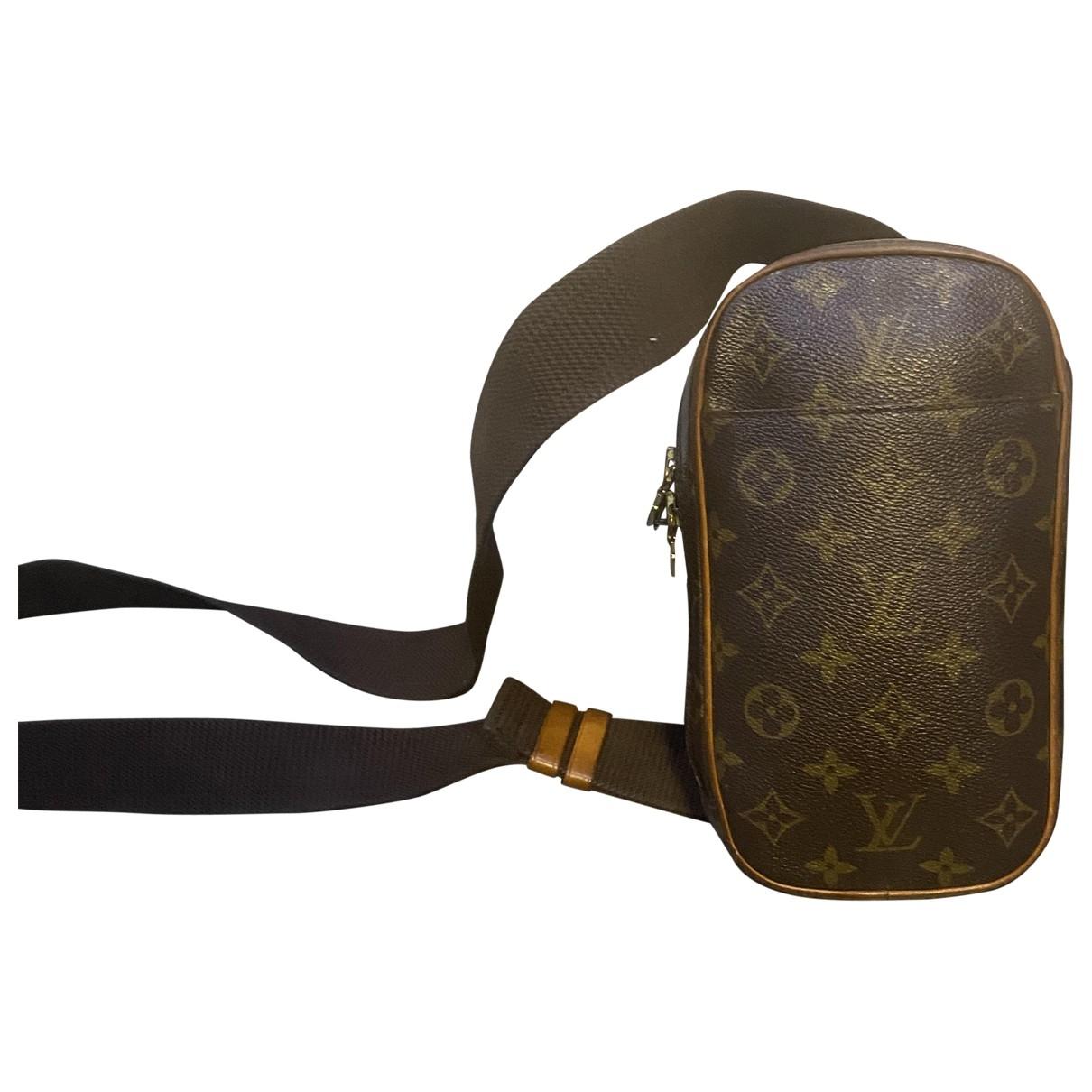 Louis Vuitton - Sac Gange  pour homme en toile - marron