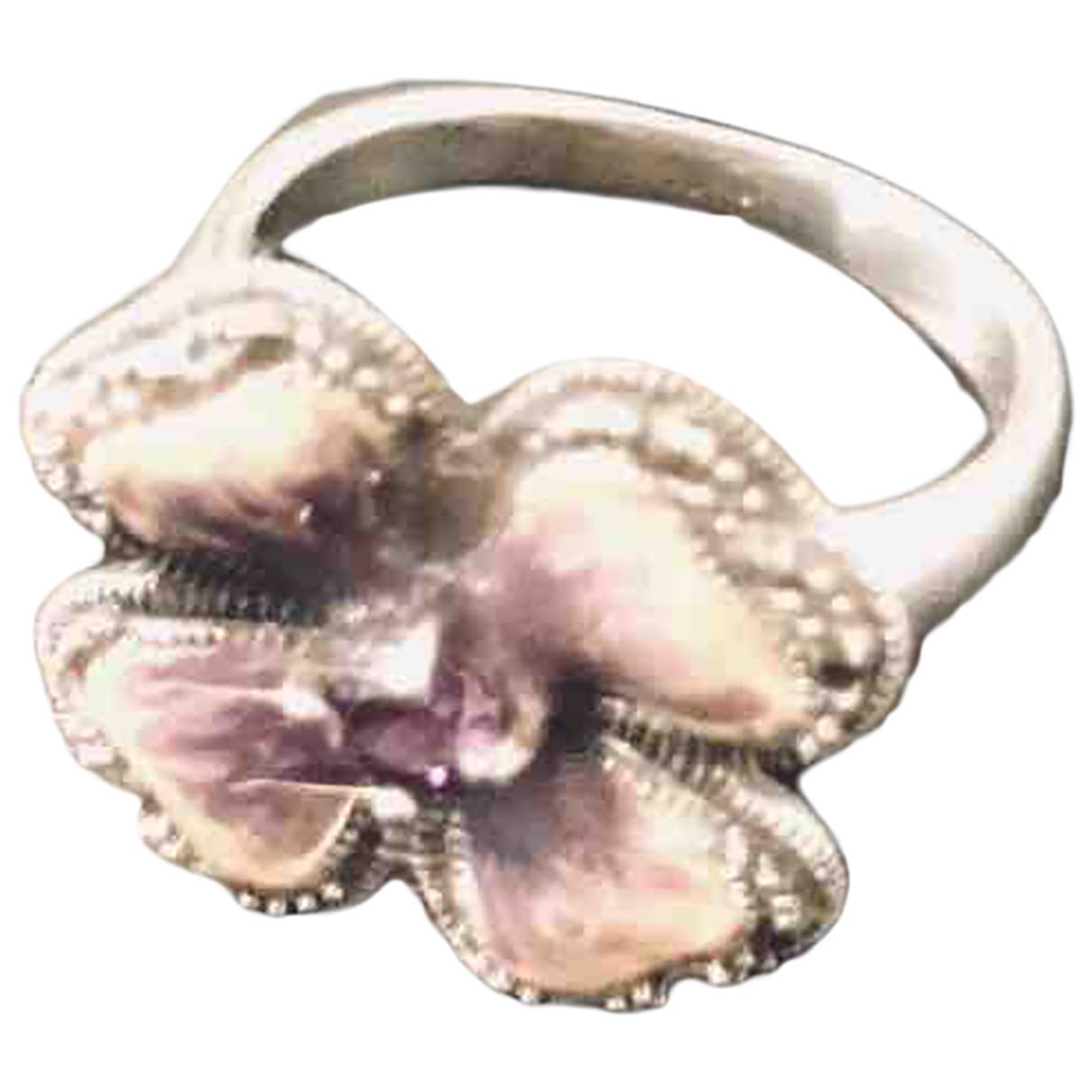 - Bague Motifs Floraux pour femme en argent - argente