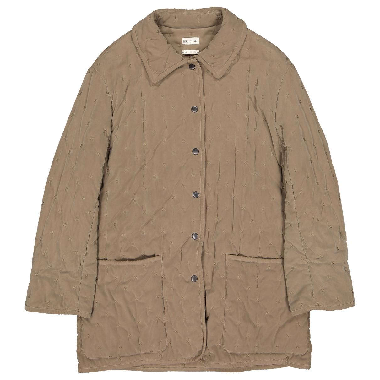 Hermes - Manteau   pour femme - kaki