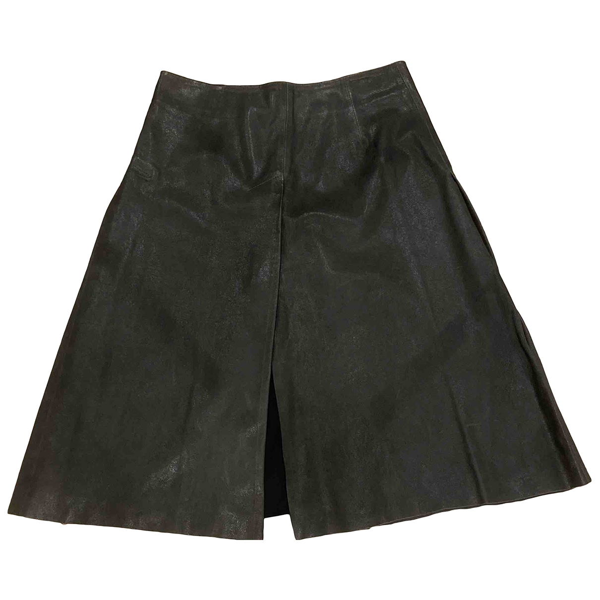 All Saints \N Grey Leather skirt for Women 10 UK