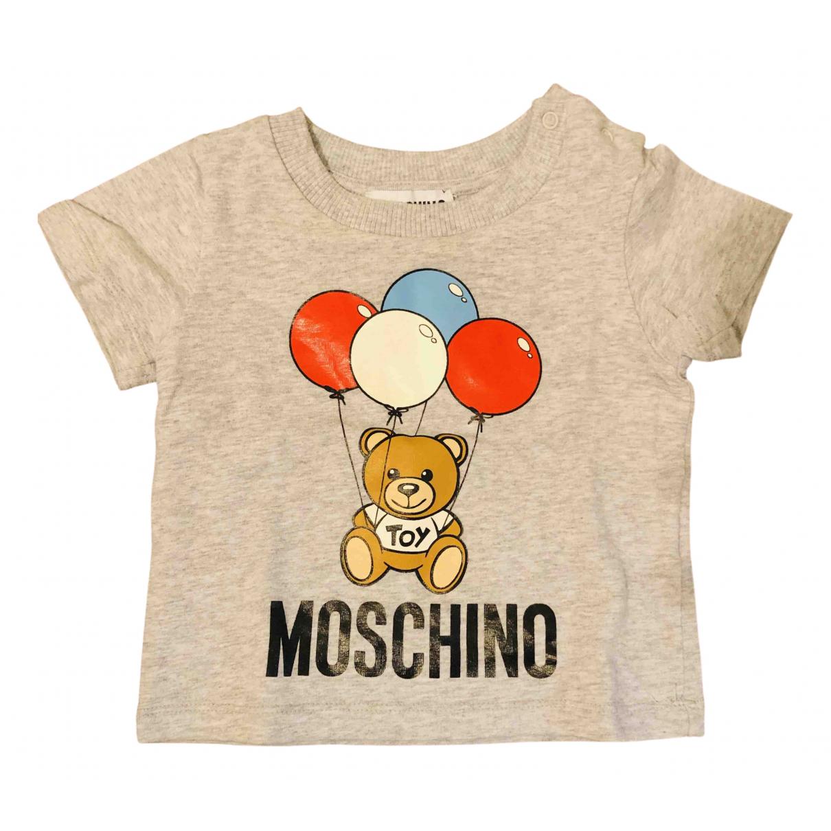 Moschino - Top   pour enfant en coton - gris