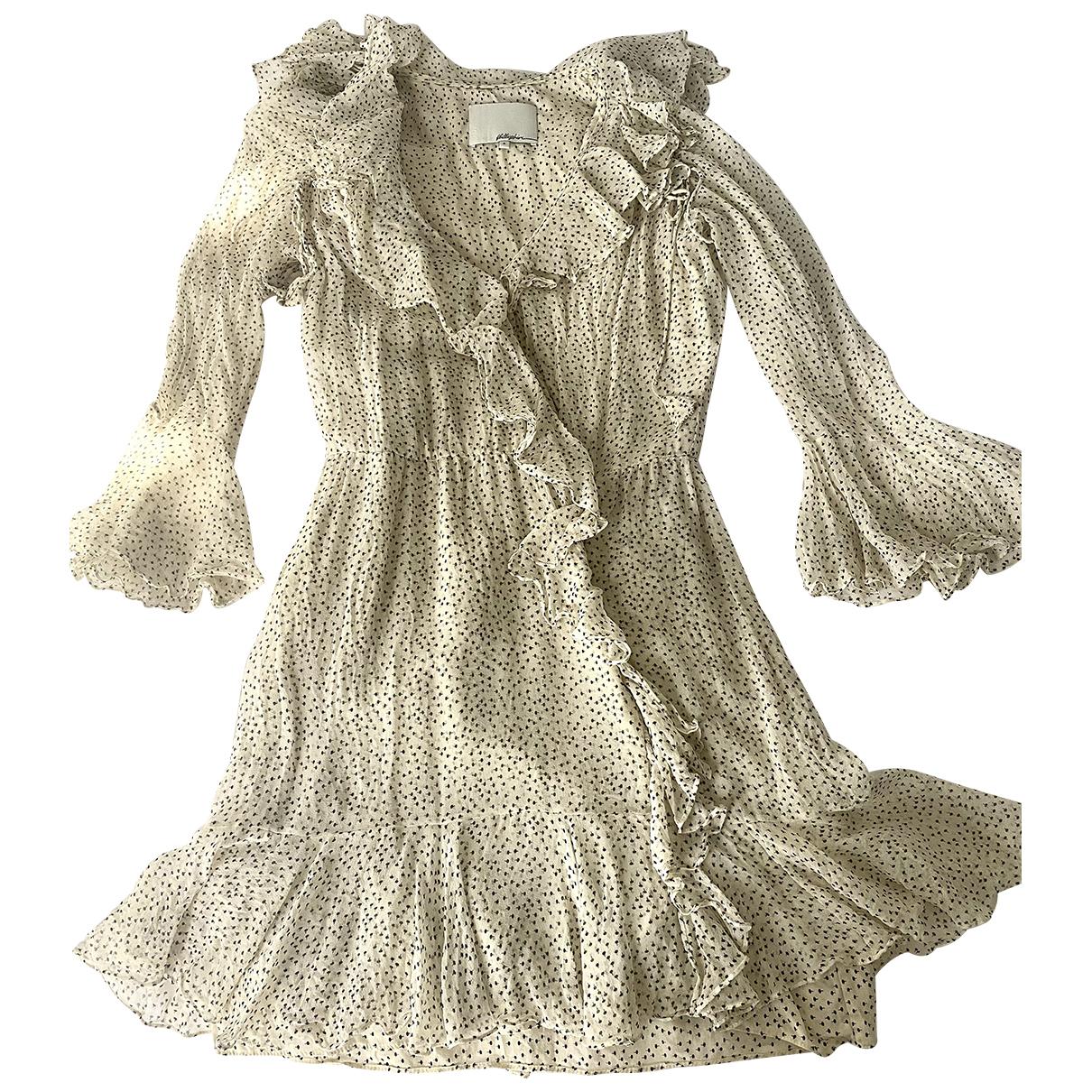 3.1 Phillip Lim - Robe   pour femme en soie - beige