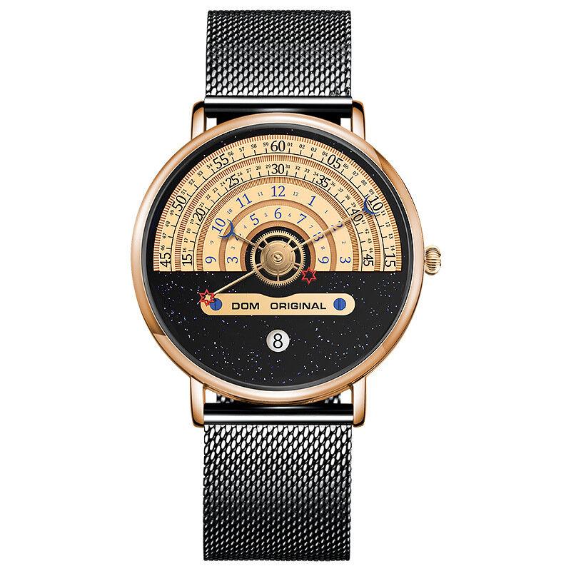 Fashion Men Watch 3ATM Waterproof Unique Dial Casual Quartz Watch