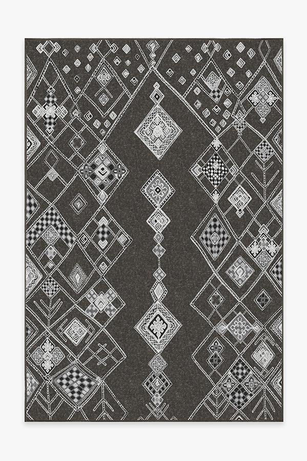 Washable Rug Cover | Farah Charcoal Rug | Stain-Resistant | Ruggable | 6x9