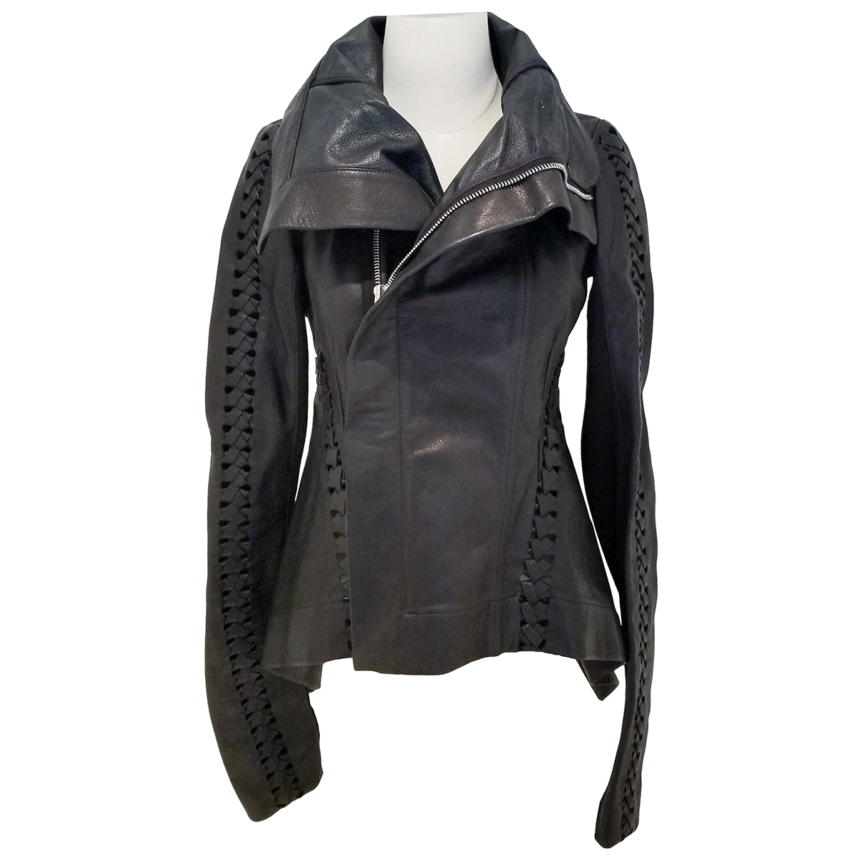 Rick Owens - Veste   pour femme en cuir - noir