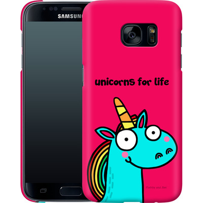 Samsung Galaxy S7 Smartphone Huelle - Unicorns for Life von Flossy and Jim