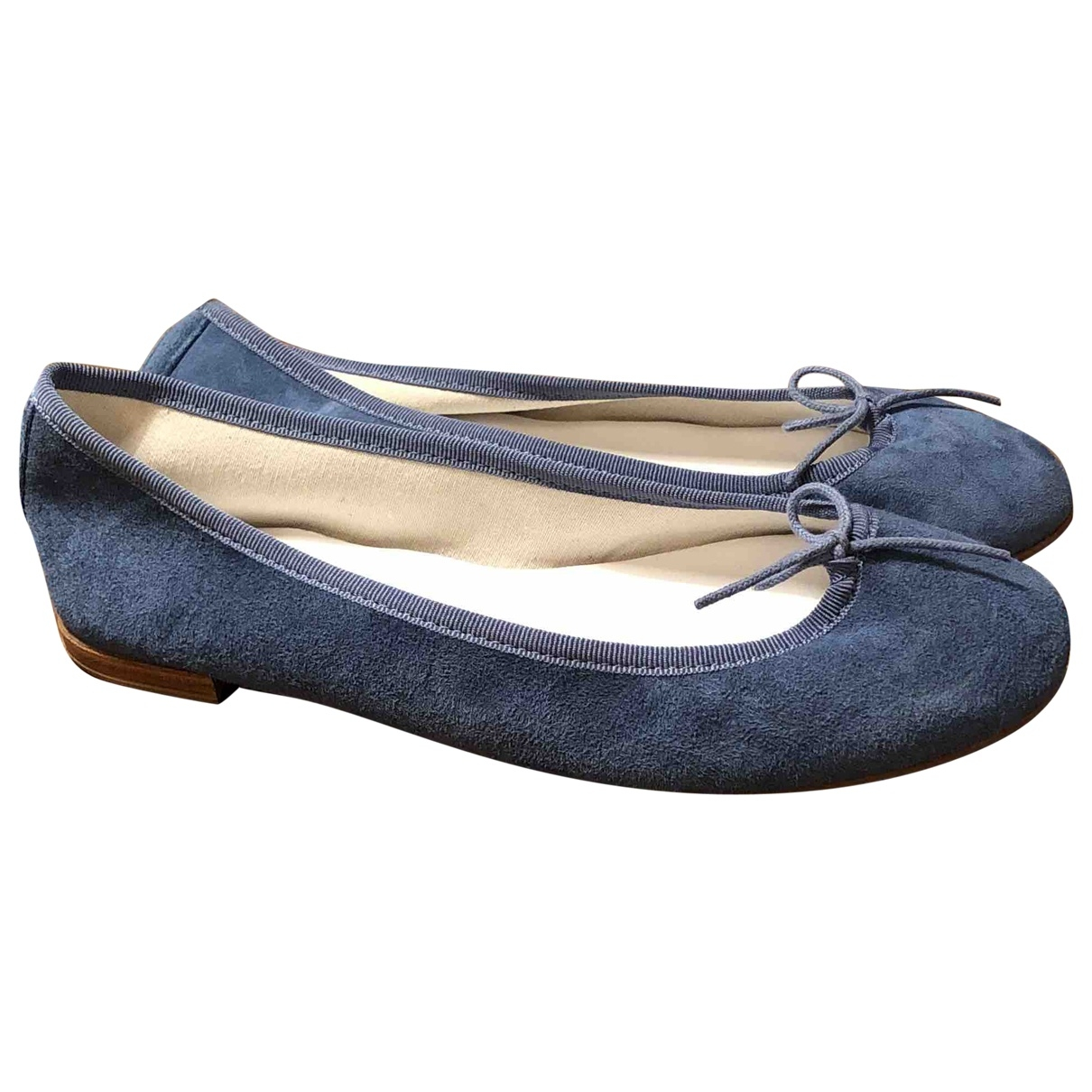 Repetto \N Blue Suede Ballet flats for Women 38.5 EU