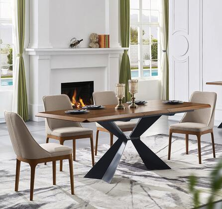 1712DININGTABLE4SC 5-Piece Dining Room Sets with Table and 4 Side Chairs in