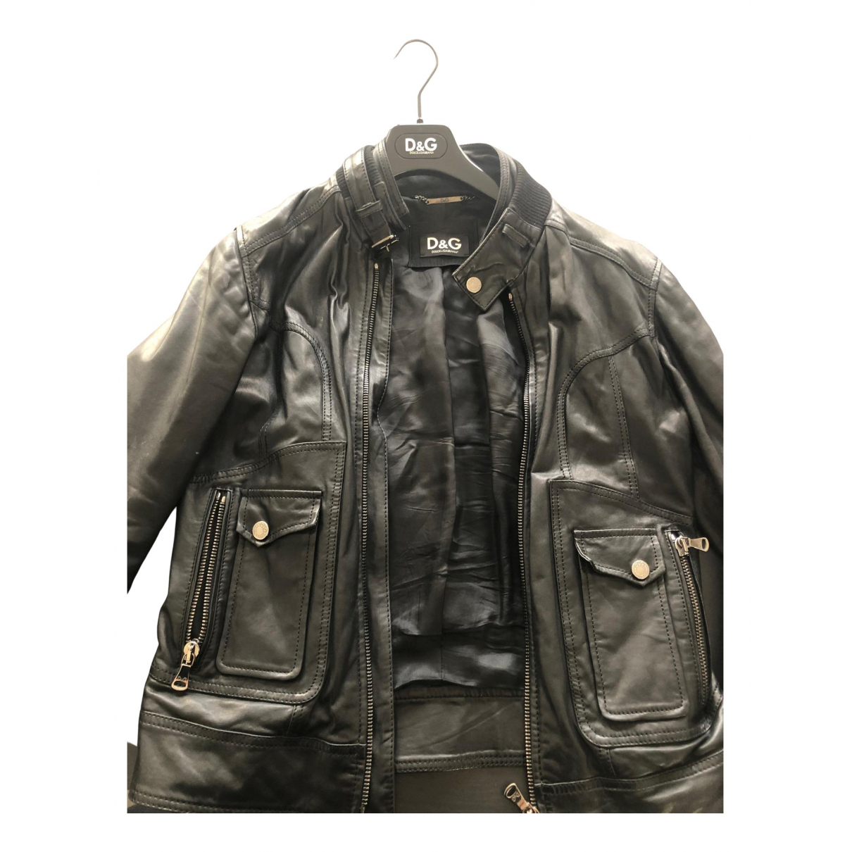 Dolce & Gabbana N Black Leather jacket  for Men 48 IT