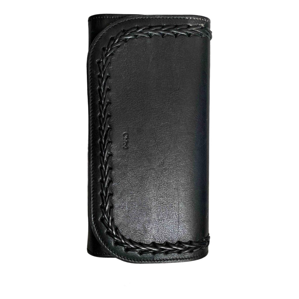 Chloe - Portefeuille Paraty pour femme en cuir - noir