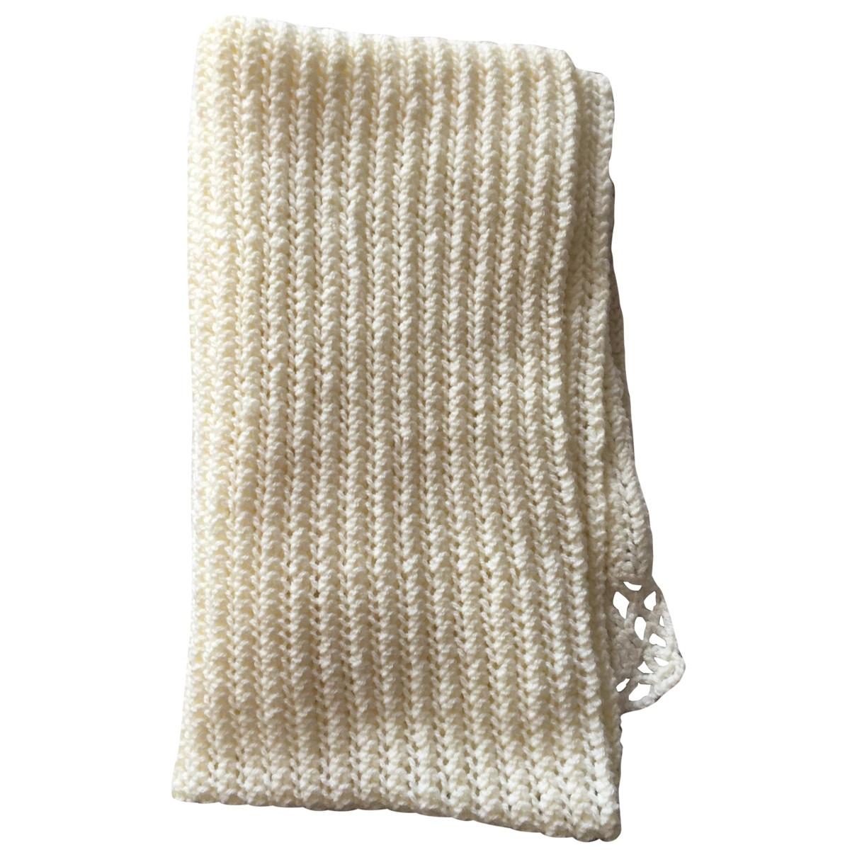 - Foulard   pour femme en laine - blanc