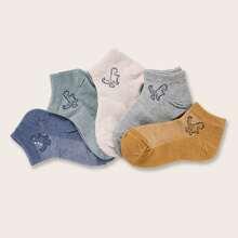 5 pares calcetines con dibujos animados