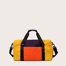Color Block Barrel Bag