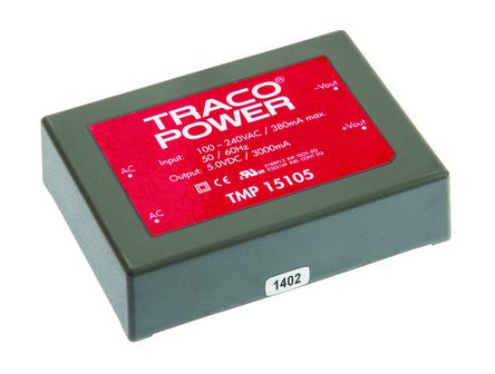 TRACOPOWER , 15W Embedded Switch Mode Power Supply SMPS, 5V dc, Encapsulated