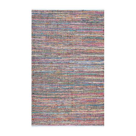 nuLoom Sabina Stripes Rectangular Rug, One Size , White