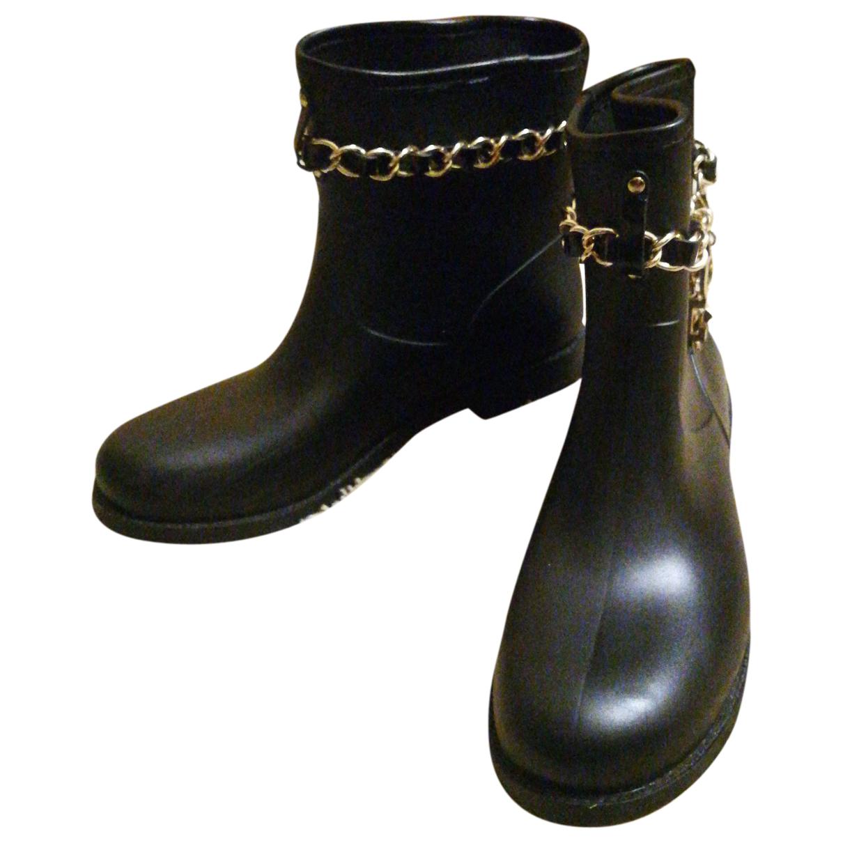 Moschino Love \N Stiefeletten in  Schwarz Kunststoff