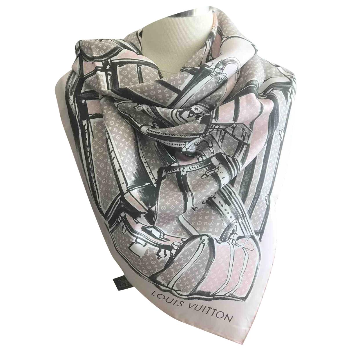 Louis Vuitton \N Schal in  Rosa Seide