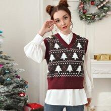 Christmas Pattern Sweater Vest