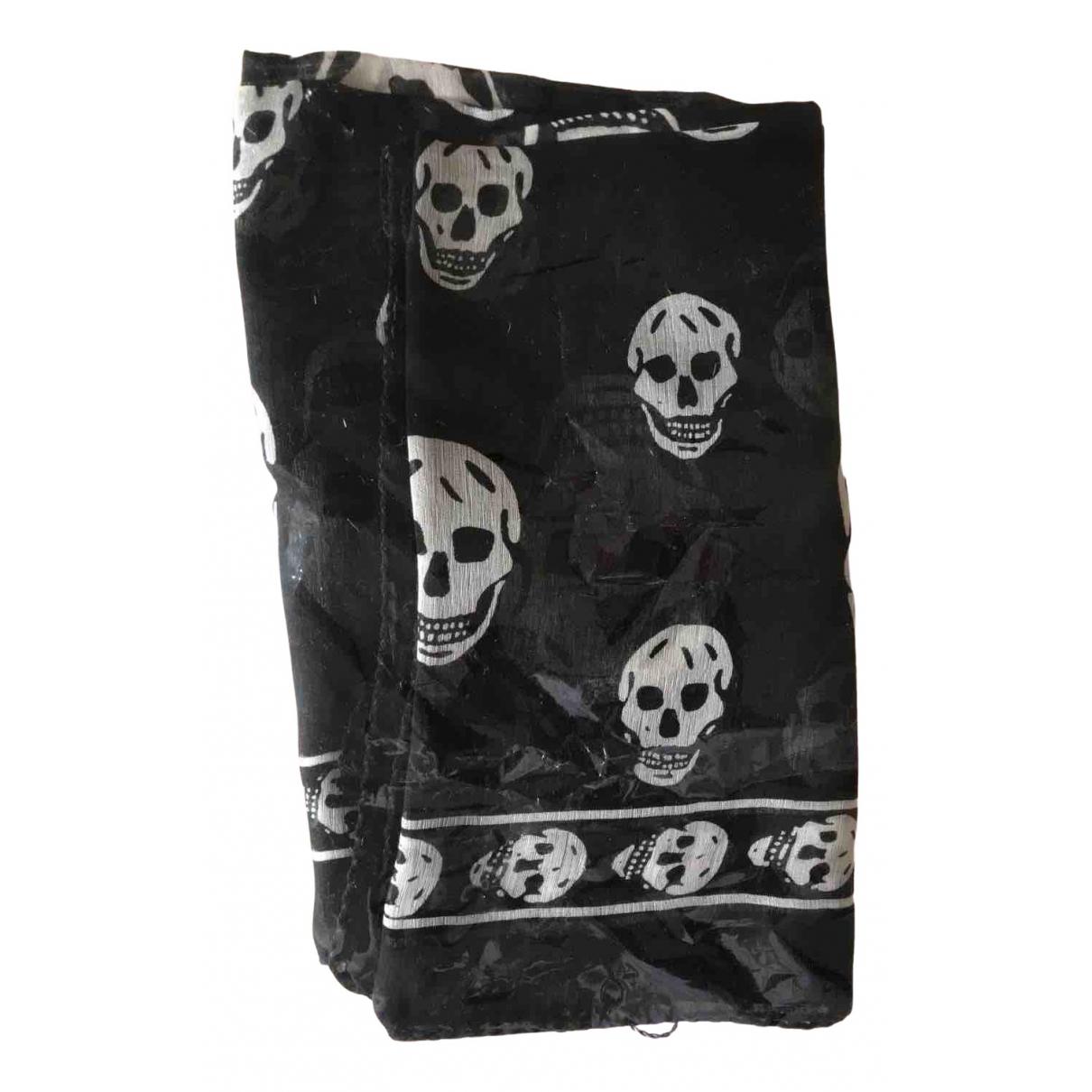Alexander Mcqueen \N Black Silk scarf for Women \N