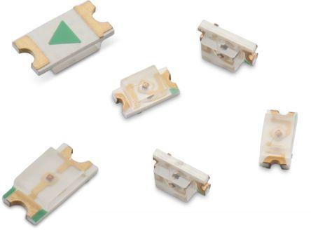 Wurth Elektronik 2.4 V Amber LED 1608 (0603) SMD,  WL-SMCW 150060AS75000 (50)