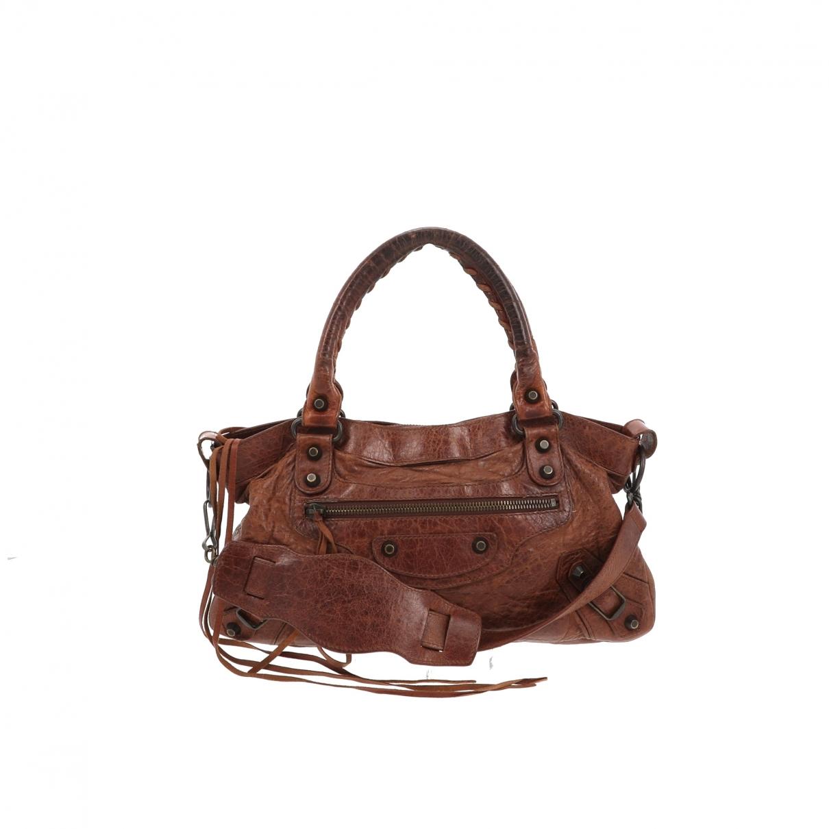 Balenciaga First Handtasche in  Braun Leder