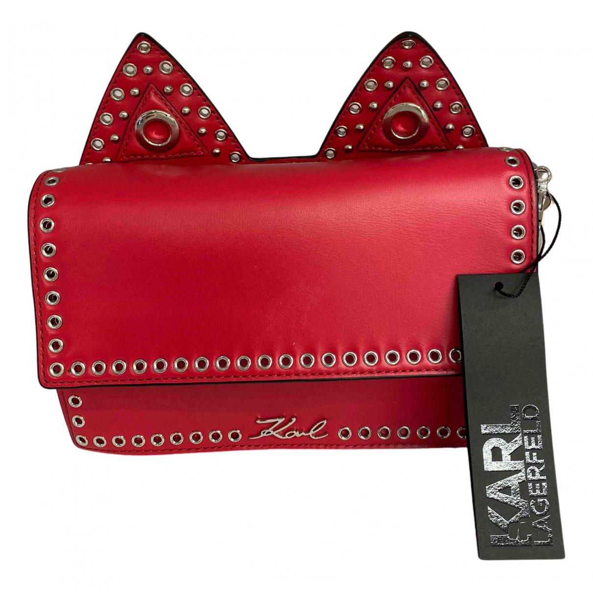 Karl Lagerfeld N Pink Leather handbag for Women N