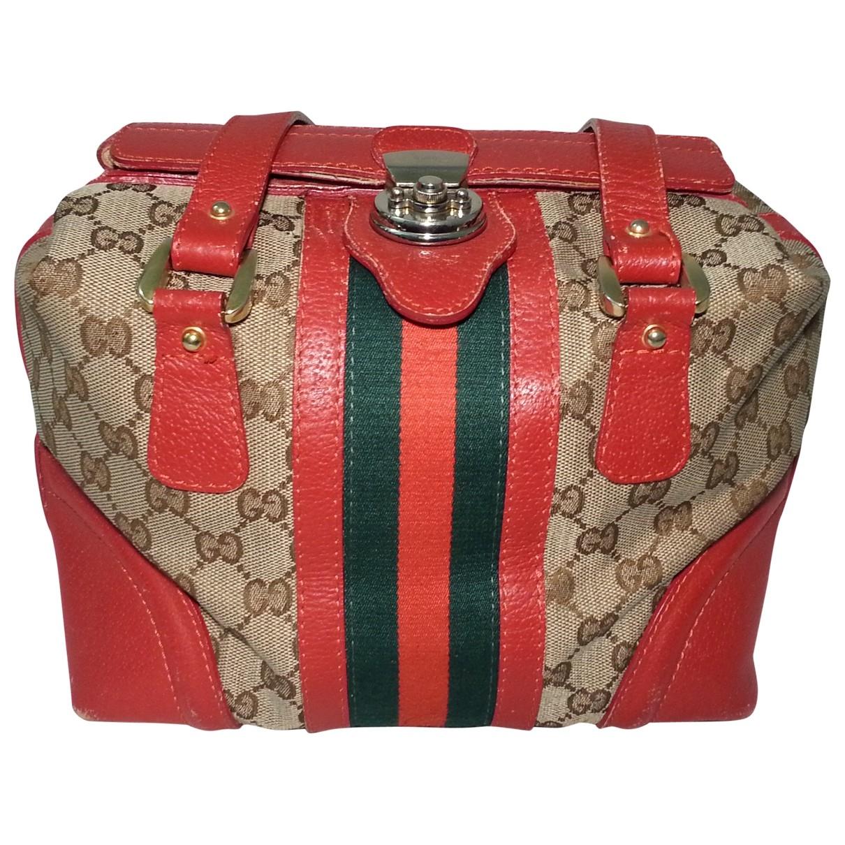 Gucci Boston Red Cloth handbag for Women \N