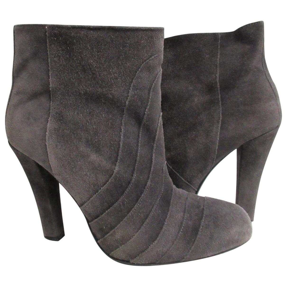 - Boots   pour femme en suede - gris