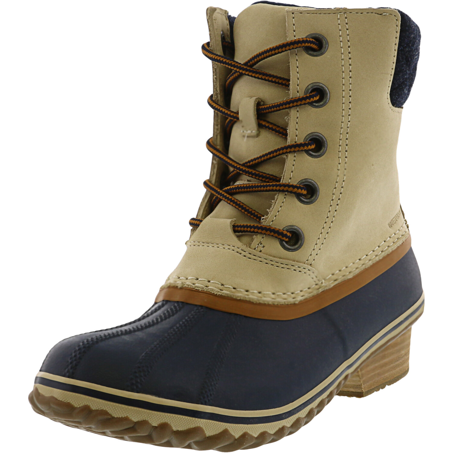 Sorel Women's Slimpack Ii Lace Oatmeal / Collegiate Navy High-Top Leather - 7M